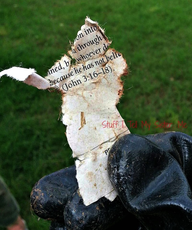 John 3:16 For God So Loved the World ~ Found in the Moore tornado debris.
