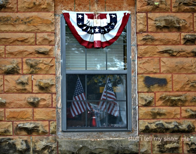 firetruck flag window
