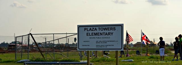 august moore school plaza sign