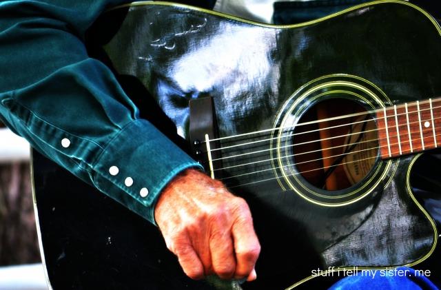 cowboys day and guitar up close
