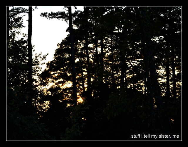 fall vacation sunset