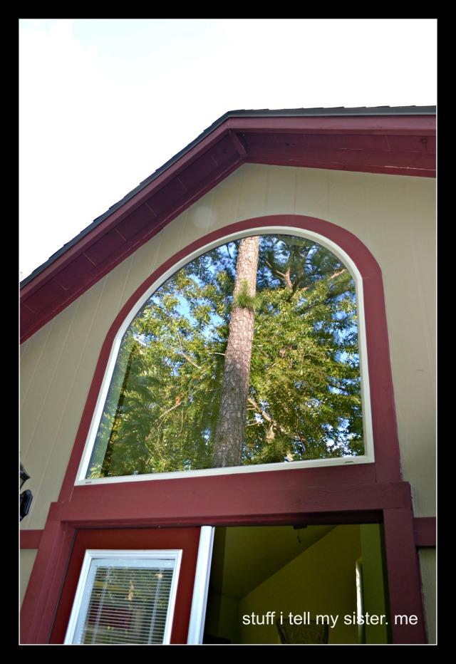 fall vacation treehouse reflec