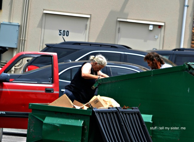drive by dumpster diving...2
