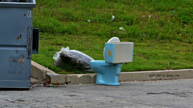 drive by dumpster diving... toilet