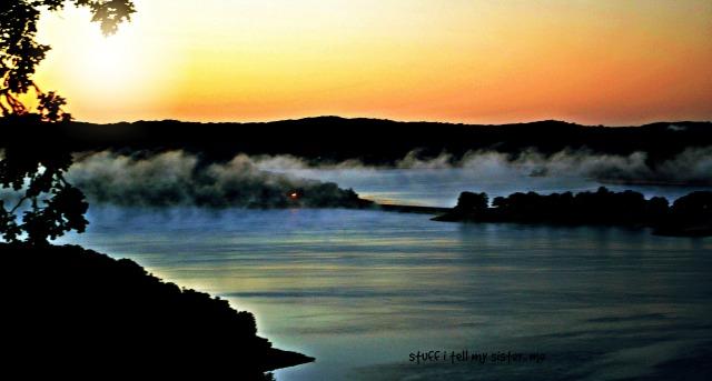arkansas sunrise fog