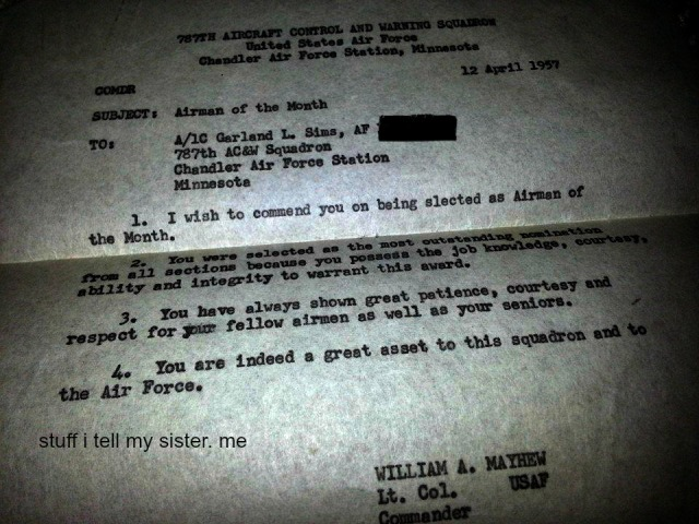 dad air force letter